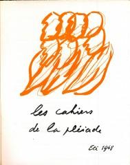 cahiers de la pleiade 1948.jpg