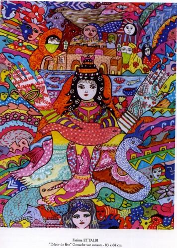 fatima Ettalbi,école d'essaouira,art brut marocain