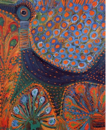 A. Boix Vives, Oiseau mondain, 1966, huile sur carton, 66,5 x57,5 cm, coll part.jpg