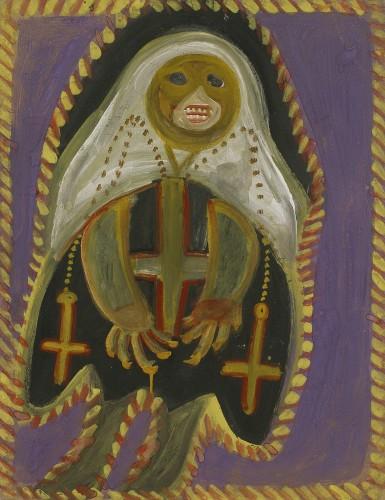 A. Boix Vives, Religieuse noire, 1964, gouache s carton 64,2x50cm.coll part.jpg