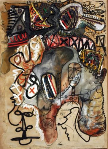 M Macréau, En se penchant sur la margelle, 1962, huile sur toile,100 x 72 cm coll part.jpg