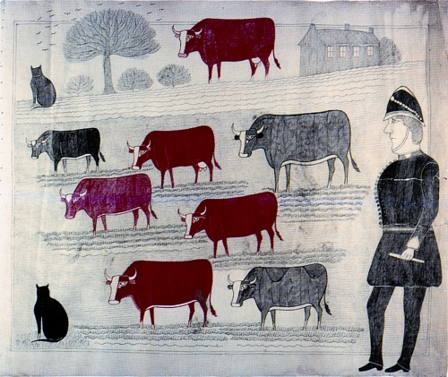 Anonyme; Policeman and Cattle. Encre sur papier. Scotttish Collection of Art Extraordinary copie.jpg