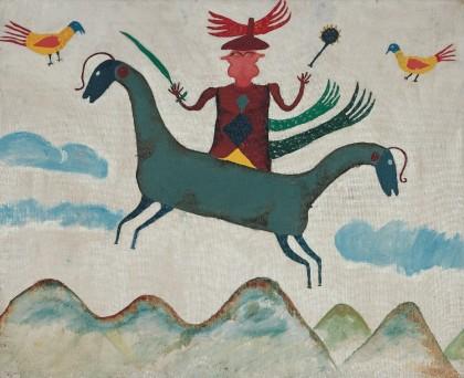 Ilija Bosilj,halle st pierre,exposition sous le vent de l'art brut,martine Lusardy,Collection Charlotte Zander,art brut,art naïf,Zanderland