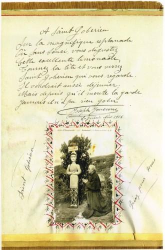 Abbé Fouré,Rochers sculptés,Rothéneuf,livre d'or