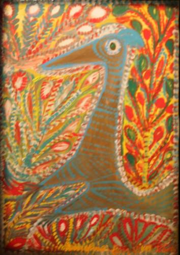 A. Boix Vives,Toucan bleu, 1965, ripolain sur carton marouflé sur toile, coll part.jpg
