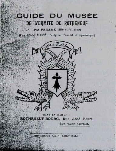 Abbé Fouré,ermite de Rothéneuf,Guide du musée,1919