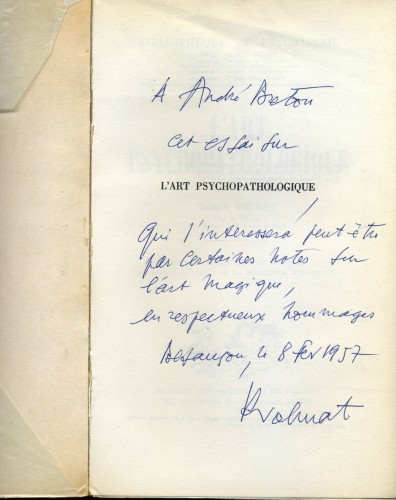 Robert Volmat,André Breton,art psychopathologique
