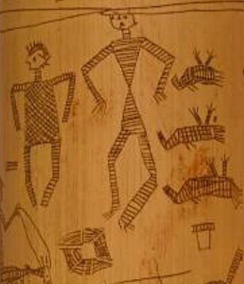 art primitif,peuple kanak,bambous gravés,nouvelle-calédonie