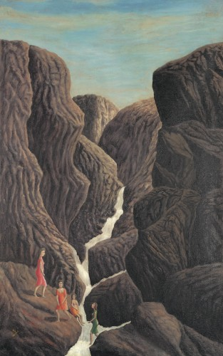 André Bauchant,halle st pierre,exposition sous le vent de l'art brut,martine Lusardy,Collection Charlotte Zander,art brut,art naïf,Zanderland