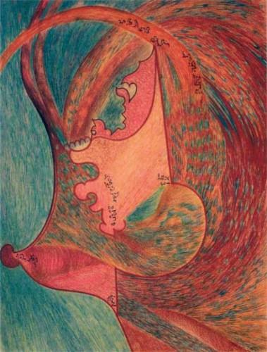 henriette zéphir,art brut,art médiumnique,galerie christian berst