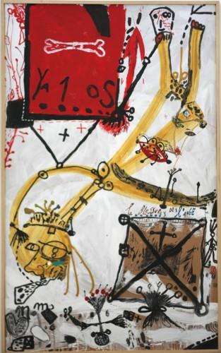 Michel Macréau, La blessure de l'ange, 1989, acrylique sur carton marouflé (207 x 128 cm) .jpg